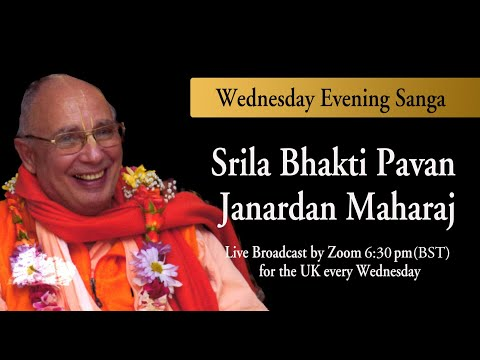Srila Bhakti Pavan Janardan Maharaj Zoom Darshan April 28th