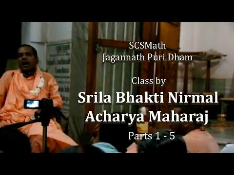 Srila Bhakti Nirmal Acharya Maharaj in Sri Puri Dham